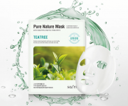 ANSKIN маска для лица тканевая с чайным деревом Secriss Pure Nature Mask Tea Tree