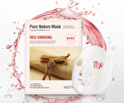 ANSKIN маска для лица тканевая с красным женьшенем Secriss Pure Nature Mask Red Ginseng